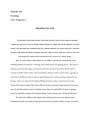 Unit 1 - Assignment 1 - Biographical Case Study