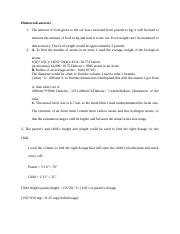Homework answers 1