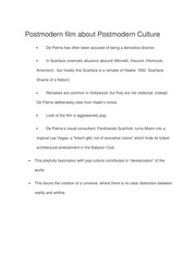 Postmodern film about Postmodern Culture