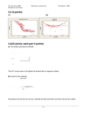 STAT 462 - HW 5 Solution Key