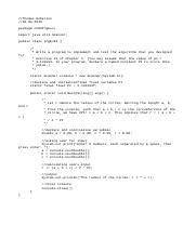 prgEx16 java - /Thomas Roberson package ch02PrgExs import java util