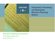 ch09 Transaction Processing and Enterprise Resource Planning Systems