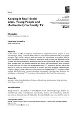 class young ppl and reality tv