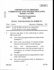 (www.entrance-exam.net)-IGNOU Certificate in Primary Curriculum and Instruction-Foundation in Subjec