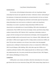 Long Distance Relationship Paper