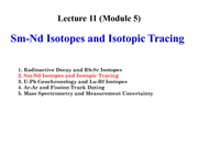 EASC 2502 Lecture 11 (Module 5) Sm-Nd Isotopes