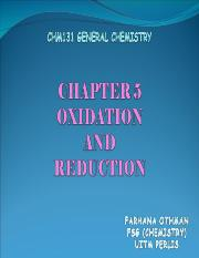 CHAPTER 5-Oxidation and Reduction