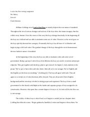 Lord of the flies writing assignment.docx