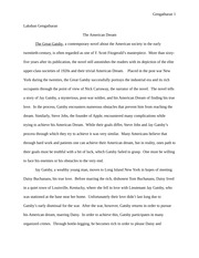 American Dream essay