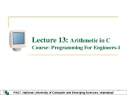 Lecture 13 Arithmatic in C