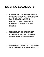 EXISTING LEGAL DUTY