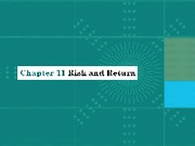 Chap011_Risk and Return(1)