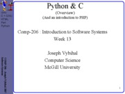 lecture 38 week13 Python PHP