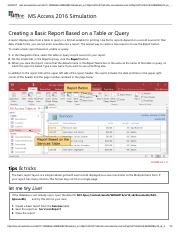 25 - Creating a Basic Report Based on a Table or Query