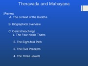 Purdue - Eastern Religions - Week 7 - Theravada and Mahayana Buddhism(2)