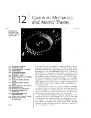 Chapter 12 - Quantum Mechanics and Atomic Theory