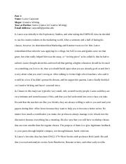 career research paper analyze a career research paper jj carroll 9 pages edps student interview essay