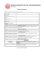 01 Sad Project Proposal Template Doc System Analysis And Design
