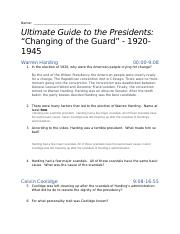 Movie Questiond.docx - Name Ultimate Guide to the Presidents ...