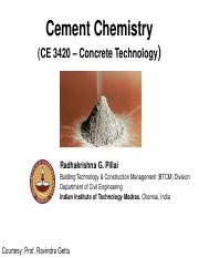 02. Cement Chemistry - done