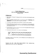 mgmt 20100 practice midterm exam i Acc 406 practice set questions and answer key bill pope has developed new device that is so exciting he is considering quitting his job in order to produce and.