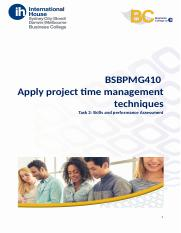 BSBPMG410 - Task 2 - Skills and Performance assessment.docx