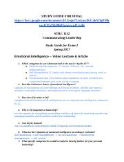 Communicating Leadership Study Guide Exam 2 (Recovered).docx