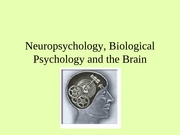 Neuropsychology, Biological Psychology and the Brain
