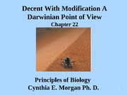 Chapter 22 Decent With Modification A Darwinian Point of View