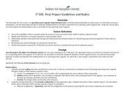 IT 505 Final Project Guidelines and Rubric