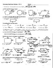 Chapter 8 Part 1 Final Exam Review Answer Key