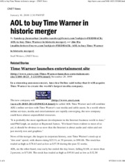 Session 9 AOL to buy Time Warner in historic merger