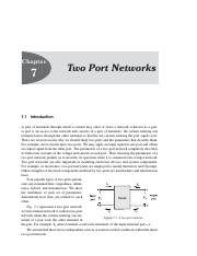 Unit-Two-Port Network