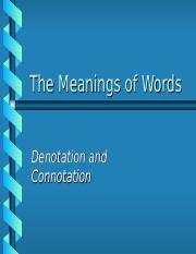 Connotations Denotations R.ppt