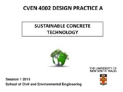 CVEN 4002 Sustainability -Lecture 10 - 2015