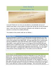Case Study 4 - Capital Gains Tax
