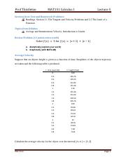 Lecture 5 Average and Instantaneous Velocity, Introduction to Limits.pdf