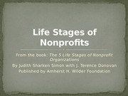 Life Stages of Nonprofits