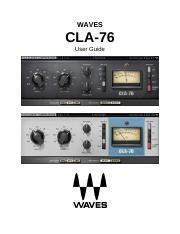 CLA-76 pdf - WAVES CLA-76 User Guide TABLE OF CONTENTS