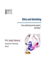 06s- Ethics and Advertising Does Advertising Promote People's Well-Being