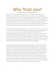 Why Trust you.docx