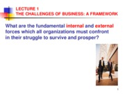 ADMS1000 fall 07 slides -Lecture1TheChallengeofBusiness