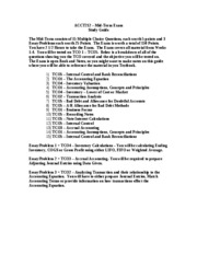 ACCT212 Mid Term Study Guide
