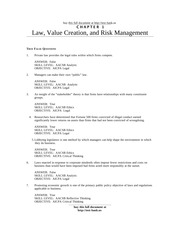 Test Bank for Managers and the Legal Environment Strategies for the 21st Century 6th Edition by Bagl