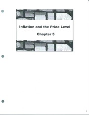 Class Note  Inflation and Price Level
