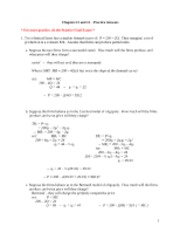 Chapters 11 & 12 Practice - Answers(1)