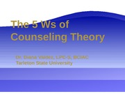 Why Counseling Theory