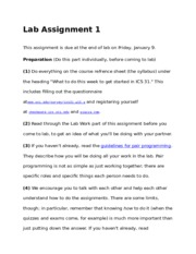 Complete ICS 31 Lab Assignments