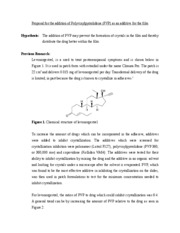 Proposal for the addition of Polyvinylpyrrolidone