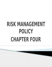04. RISK MANAGEMENT POLICY - Chapter 04.pptx